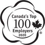 We are proud to be one of Canada's Top 100 Employers.