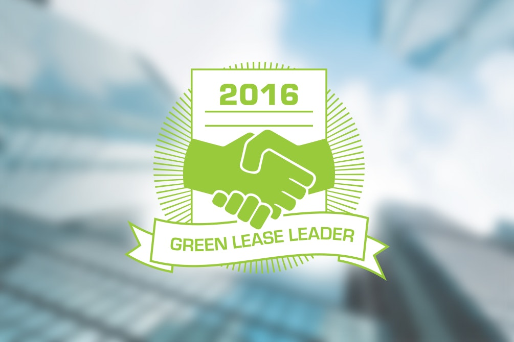 2016 Green Lease Leaders award