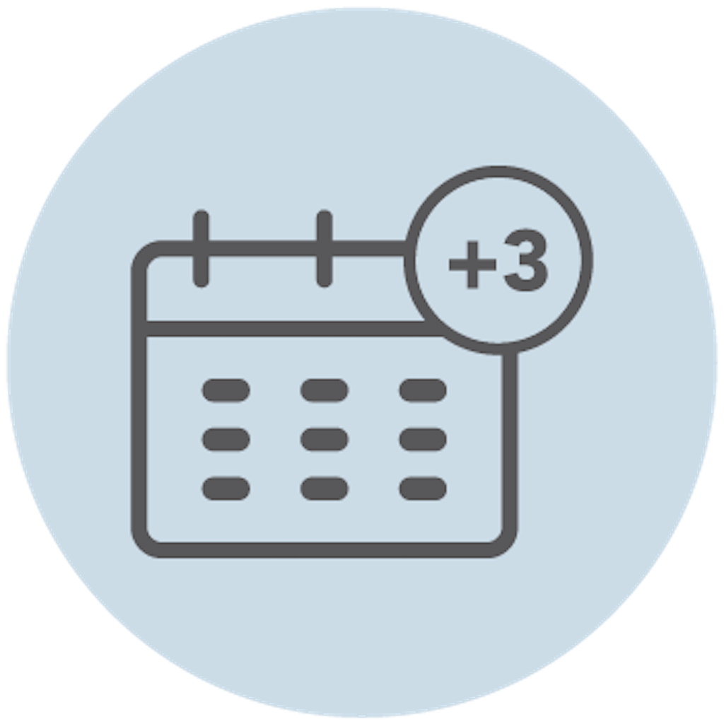 Three additional flexible recovery days